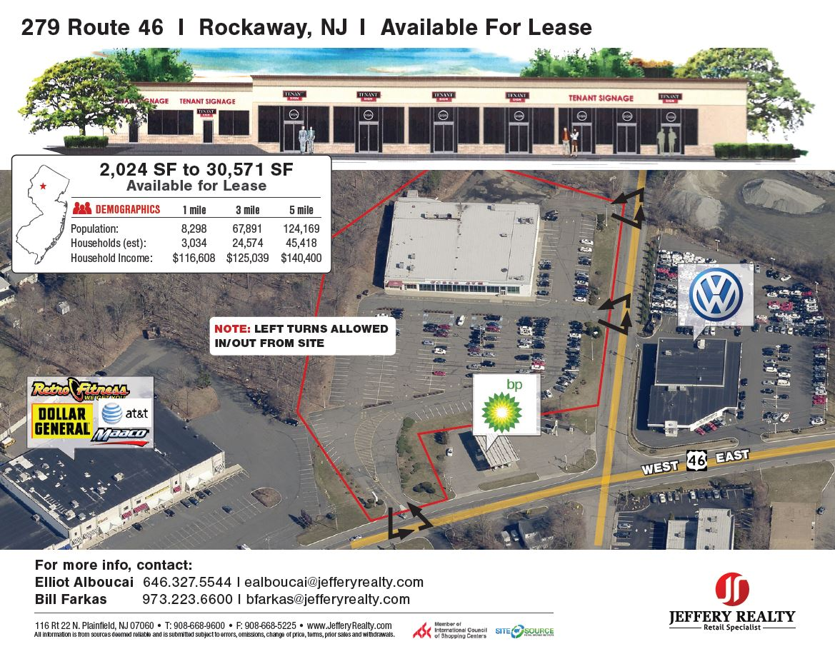 279 Route 46 - Jeffery Realty on u.s. route 40 in new jersey, road map of new jersey, route 80 nj exits list,